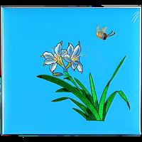 Большой семейный фотоальбом из искусственной кожи с вышивкой на 600 фотографий, Цветок