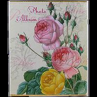 Большой фотоальбом на 400 фотографий с цветной ламинированной полиграфией, Цветы