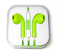 Гарнитура iPhone 5 (с регул. громкости) Green or