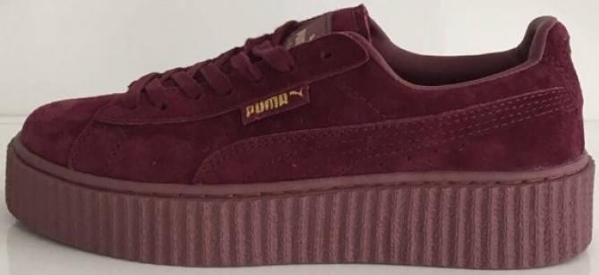 2ea61b269c43 Купить Кроссовки Rihanna x Puma Suede Creeper Maroon  продажа, цена ...