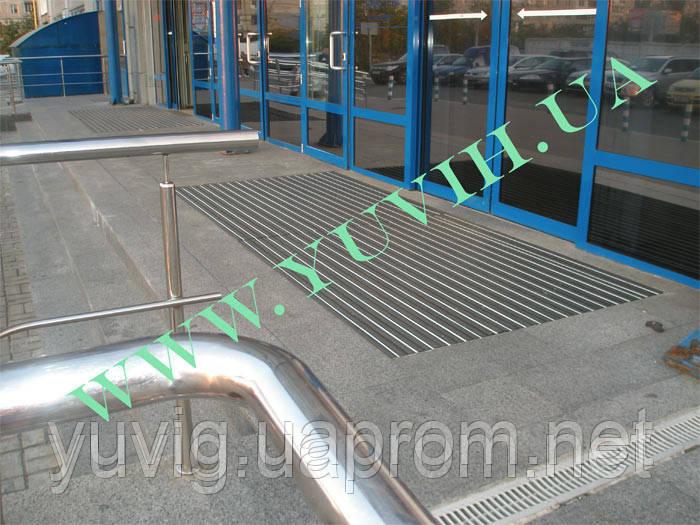 Придверная решетка «Лен» резина+скребок 600х400мм. с внутренним обрамленем - ООО «ЮВИГ» в Киеве