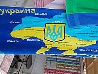 Полотенце карта Украины