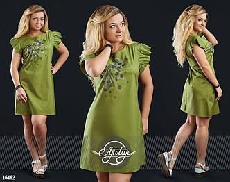 Платье больших размеров в расцветках - 16463