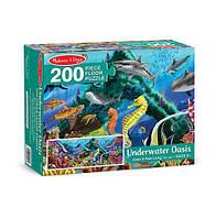 """""""Подводный оазис"""" - напольный пазл, 200 эл. MD18907, Melissa&Doug"""