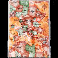 Семейный фотоальбом из кожзама на 300 фото с книжным переплетом, Карта