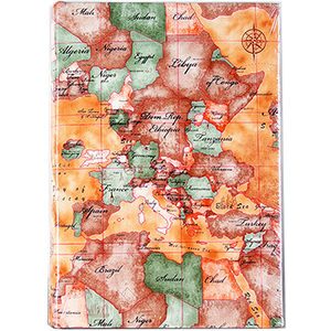 Семейный фотоальбом из кожзама на 300 фото с книжным переплетом Карта
