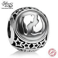 """Серебряная подвеска-шарм Пандора (Pandora) """"Знак зодиака Рыбы"""" для браслета"""