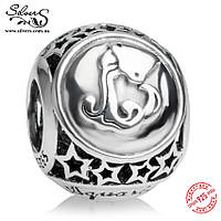 """Серебряная подвеска-шарм Пандора (Pandora) """"Знак зодиака Водолей"""" для браслета"""