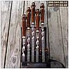 Шампуры подарочные в чехле, ручной работы с деревянными ручками (шампура)