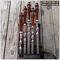 Шампуры подарочные в чехле, ручной работы с деревянными ручками (шампура), фото 1