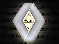Светящаяся эмблема Renault/ Рено,белая