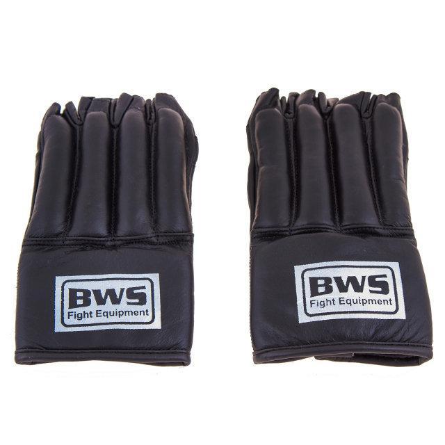 """Перчатки """"сосиски"""" BWS кожа черные. Распродажа! Оптом и в розницу!"""