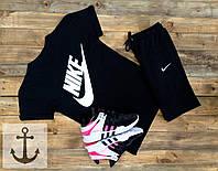 Мужская футболка Nike + Шорты 🔥 (Найк) черный