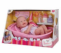 Пупс Новорожденный реалистичный малыш с ванной JC Toys La Newborn Deluxe 36 см