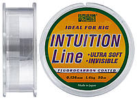 Леска Brain Intuition 50m 0,126 mm #0,6 1,4 kg 3,1 lb ц.: clear