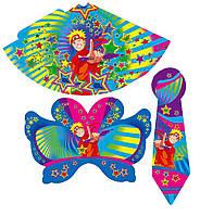 Праздничный набор Колпак, маска, галстук - Наруто - 50шт АССОРТИ