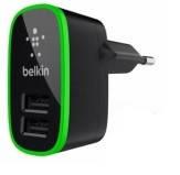 Сетевое зарядное устройство Belkin iPhone 4 2in1 2*USB 5V 2.1A black