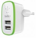 Сетевое зарядное устройство Belkin iPhone 4 2in1 2*USB 5V 2.1A white