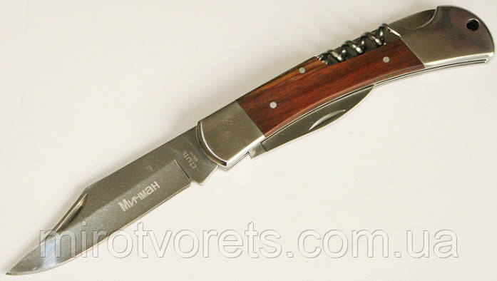 Нож складной со штопором Мичман, 65Х13,