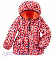 OshKosh Куртка демисезонная на девочку в горошек на флисе