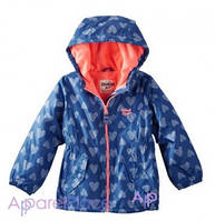 OshKosh Куртка синяя на девочку на флисе, Сердечки 0-24