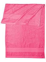 Банное махровое полотенце  (Ярко розовый)