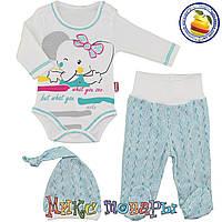 Костюм Боди штанишки и шапочка для малыша Размеры: 68-74-80 см (5490)