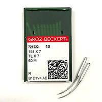 Игла Groz-Beckert 151x7,151x5, 60M, 60MSD оверлочная изогнутая 10 шт/уп