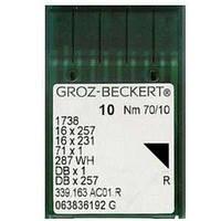 Игла Groz-Beckert DBx1,1738,16x257,71x1 с тонкой колбой 10 шт/уп