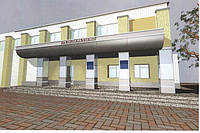 Проект облицовки фасада здания