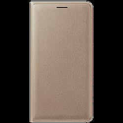 Чехол книжка Samsung J1 2016 EF-WJ120PFEGRU (Gold)