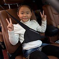 Фиксатор ремня безопасности для детей от 2 до 12 лет (адаптер)- милитари