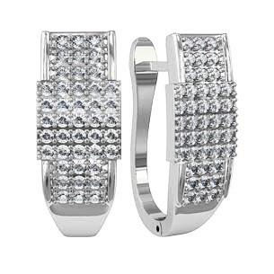 Серьги серебряные Планка  310380