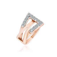 Позолоченное серебряное кольцо с цирконием Токио 000025573 17.5 размера