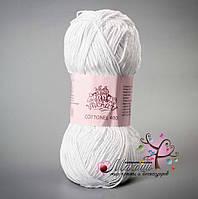 Пряжа Cottonel  400 Коттонель 400 Vivchari,  № 2001, белый