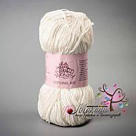 Пряжа Cottonel  400 Коттонель 400 Vivchari,  № 2002, молочный