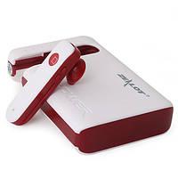 Беспроводная bluetooth гарнитура ZEALOT B16 бело-красная с микрофоном Power bank для связи музыки наушник