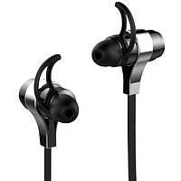 Беспроводная спортивная bluetooth гарнитура ZEALOT H2 черная стерео с микрофоном вкладыши для музыки телефона