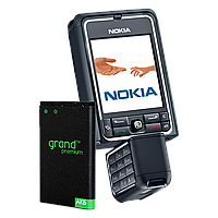 Аккумулятор Grand Premium Nokia BP-6M (3250/6151/6161/6233/6280/N73/N93)