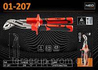 Клещи трубные переставные диэлектрические 250мм., 1000В., CrV, NEO 01-207, фото 1