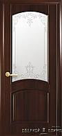 Двери Elegance Lungo Ясень белоснежный стекло мокко