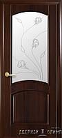 Двери Elegance Uno Орех итальянский стекло белое
