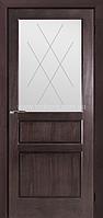 Двери Elegance Neo Орех итальянский стекло белое