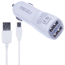 АЗУ Meizu 2USB 2in1 (АЗУ 3.1A + MicroUSB Cable) White original