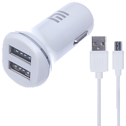 АЗУ Xiaomi 2USB 2in1 (АЗУ 3.1A + MicroUSB Cable) White original