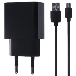 СЗУ Asus 2in1 (СЗУ 1.5A + MicroUSB Cable) Black or