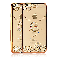 Чехол накладка Fashion Case Swarovski iPhone 5/5S Moon Gold