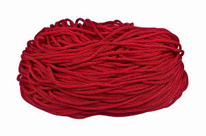 Шнур для одежды круглый цв красный 5мм (уп 100м) 5-07