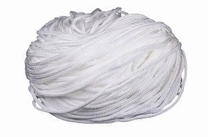 Шнур для одежды круглый цв белый 5мм (уп 100м) 5-07