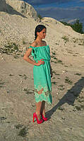 Льняное красивое летнее платье